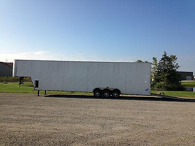 2015-44' L x 9' H x 8' W Gooseneck Enclosed Cargo Trailer-8,000 Lb. Tri Axle