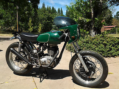 Triumph : Other Triumph 500 Single--Vintage 1971 Cafe Racer