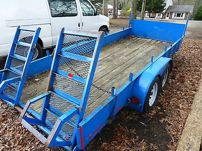 2002 Carry On Tandem Trailer 16 Foot for Bobcat, Excavator or Landscape Use