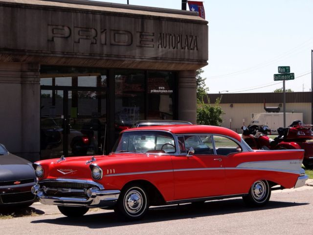 Chevrolet : Bel Air/150/210 Bel Air 1957 chevrolet bel air 2 dr hdtp sport cpe one owner red very original s video