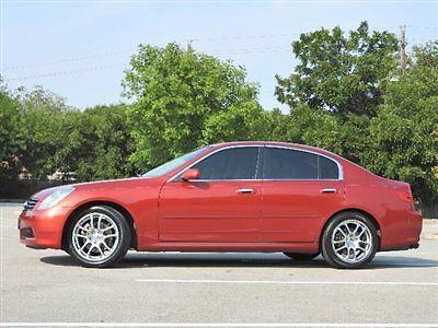 Infiniti : G35 G35 4dr Sedan Automatic G35 4dr Sedan Automatic Infinity G35 Sedan Gasoline 3.5L V6 Cyl Garnet Fire
