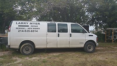 Chevrolet : Express black 02 chevy express cargo van 2000