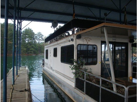 1996 SUN TRACKER pontoon houseboat