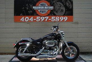 Harley-Davidson : Sportster 2015 black sportster 1200 custom only 79 miles minor frt fender damage salvage