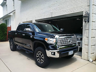 Toyota : Tundra Limited Crew Max 2015 toyota tundra crew max limited loaded with readylift 35 tires like new