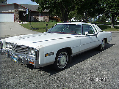 Cadillac : Eldorado Biarritz Coupe 2-Door 1978 cadillac eldorado biarritz coupe 7.0 l 425 c i v 8 white with white leather