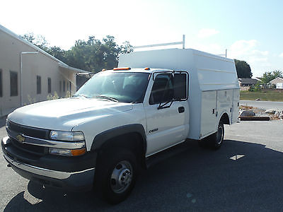 Chevrolet : Silverado 3500 service body 4x4 2001 chevy hd 3500 4 x 4 service utility kuv body 1 owner very nice truck