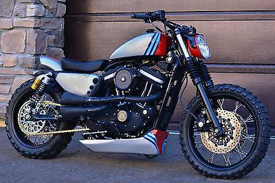 Harley Davidson Sportster 2006 Custom 883 R Cafe Racer Tracker Martini