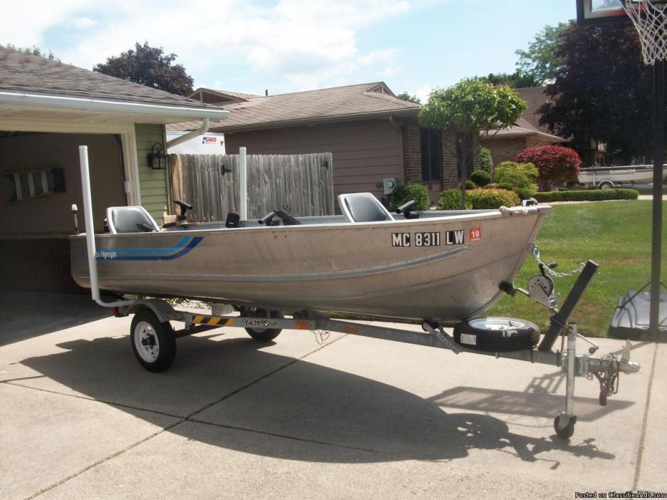 14 ft deep v Sea Nymph w/trailer