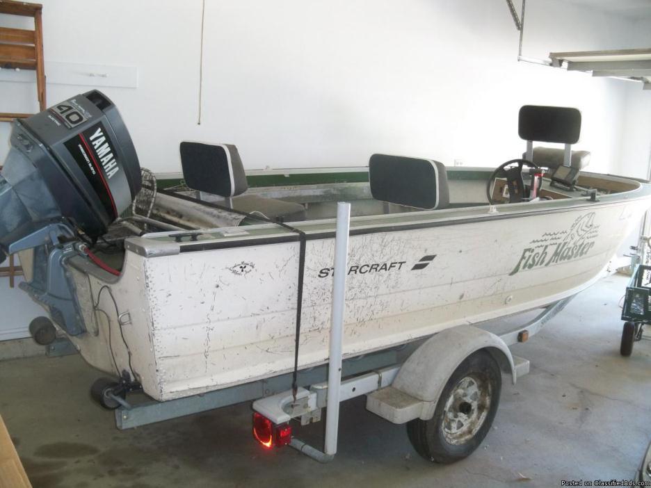Fishing boat, motot, trailer for sale