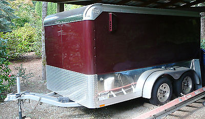 Wells Cargo enclosed motorcycle trailer MC 122-7-ME