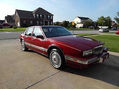 Cadillac : Seville Base Sedan 4-Door 1990 cadillac seville like new 60 000 miles dark red w burgundy leather