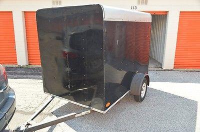 2008 Trakker 6x8' Cargo Trailer - Black Enclosed