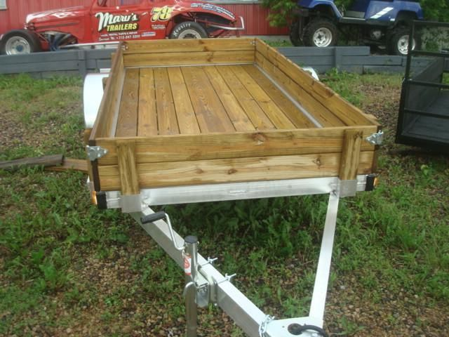 NEW 5X10 WOLVERINE ALUMINUM OPEN TRAILER