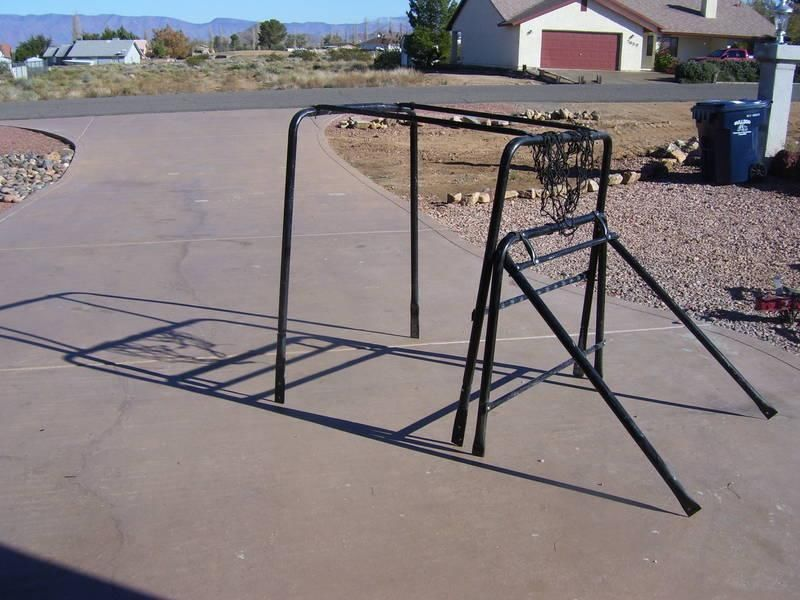 GOLF CART ROLL BAR CAGE UPPER BRUSH GUARD  AND A UTILITY BOX ROLL CAGE