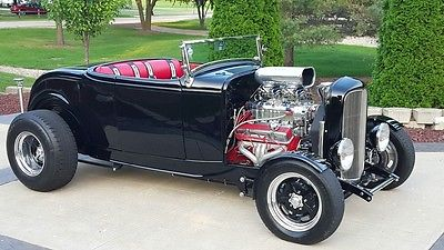 Ford : Other black 1932 ford roadster blown street rod hot rod pro touring resto rod awesome