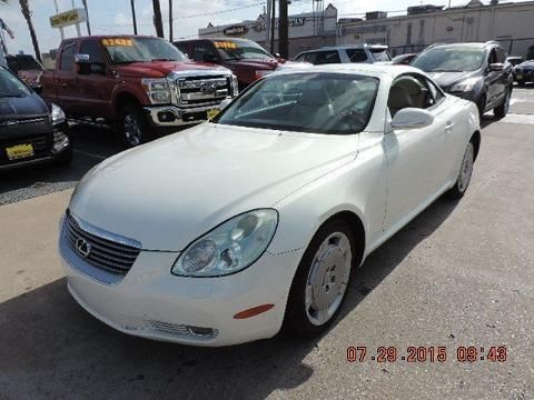 2002 LEXUS SC 430 2 DOOR CONVERTIBLE