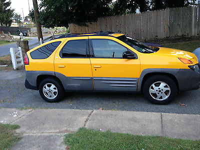 Pontiac : Aztek GT Sport Utility 4-Door YELLOW, DRIVES - GOOD CONDITION, FEW SCRATCHES- BODY INTERIOR GOOD, UNIQUE TRUCK