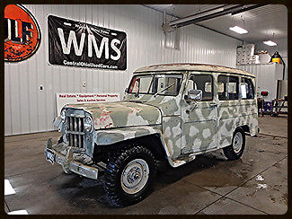 Willys : Overlander Station Wagon 52 tan station wagon van truck manual straight 6 six classic show car jeep panel