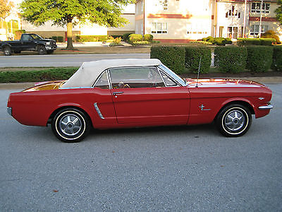 Ford : Mustang 2-Door Convertible 1965 ford mustang convertible 289 cu in engine 3 speed manual transmission