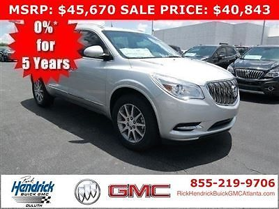 Buick : Enclave FWD 4dr Leather FWD 4dr Leather New SUV Automatic Gasoline 3.6L V6 Cyl  QUICKSILVER METALLIC
