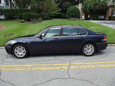 BMW : 7-Series 750LI 2002 bmw 750 li one owner clean 4 dr luxuary sedan blue series 7