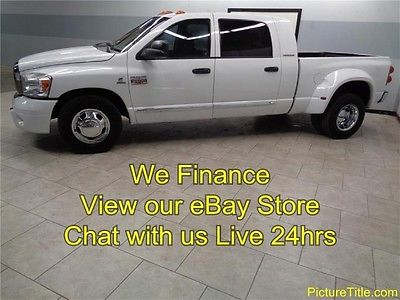 Dodge : Ram 3500 Laramie Mega Cab Dually 2WD 6 Speed 5.9 Cummins Diesel 07 ram 3500 2 wd laramie mega cab 5.9 cummins diesel 6 spd we finance texas