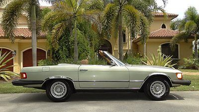 Mercedes-Benz : SL-Class 450SL ROADSTER 1974 mercedes benz 450 sl with 58000 miles rare green metallic a must see