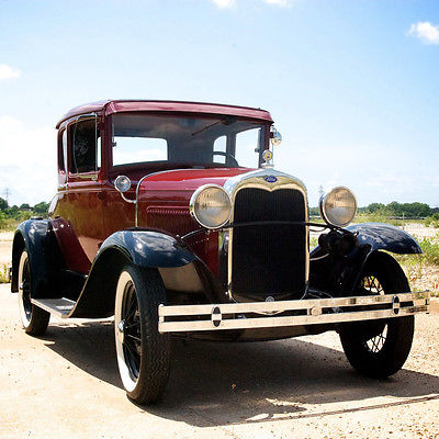 Ford : Model A Model A 1930 ford model a lebaron bonney interior 5 window push button starter