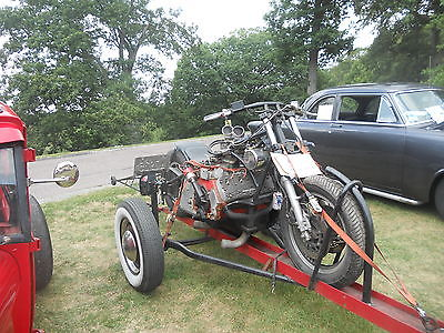 Custom Built Motorcycles : Other Custom Built Drag Bike w/1951 Flathead Ford Power Plant Including Trailer