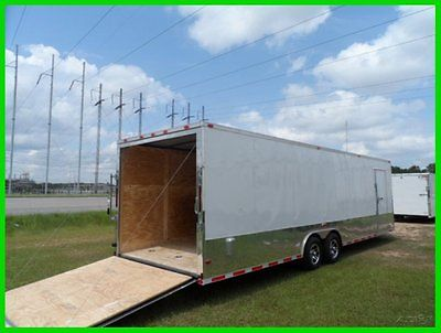 28 plus 2ft v nose 30ft inside enclosed cargo motorcycle trailer car hauler NEW