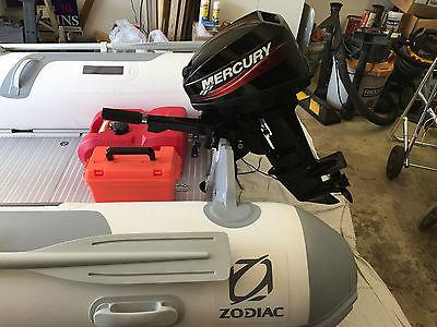 Complete Zodiac Cadet 350 ALU C350AL Inflatable Boat Set w/ Mercury 15HP Motor