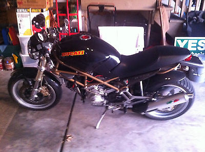 Ducati : Monster Black & Gold, Naked bike, excellent condition, tons of aftermarket parts