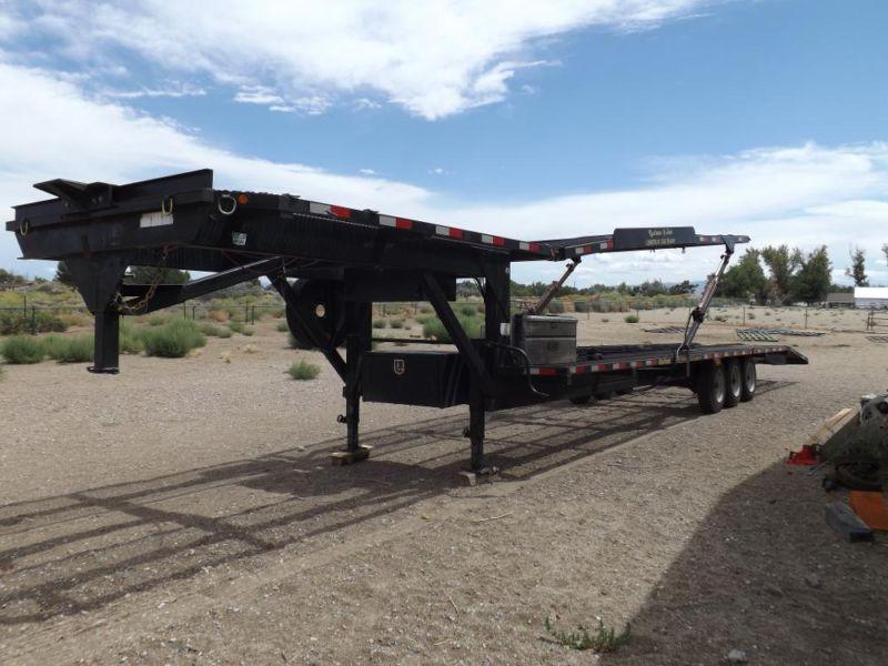 Kaufman 4 car gooseneck trailer transporter hauler