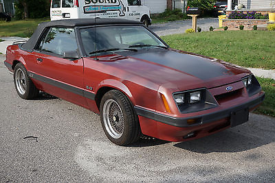 Ford : Mustang gt 1986 mustang gt convertible 19 000 original miles 5.0 saleen wheels