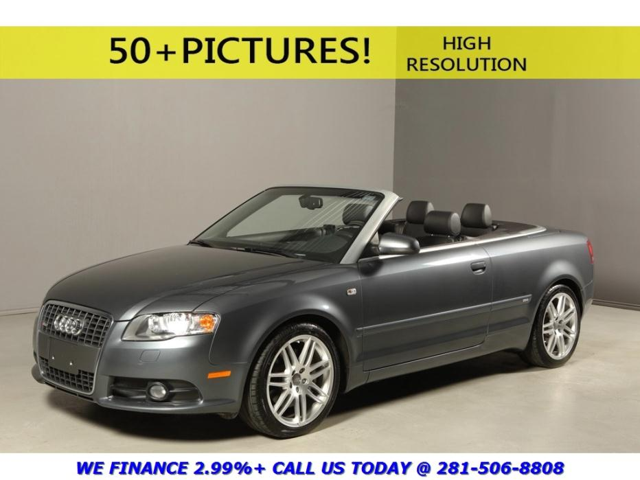Audi : A4 2009 A4 2.0T QUATTRO AWD CONVERTIBLE LEATHER 2009 a 4 2.0 t quattro awd convertible leather heated seats 18 alloys xenons gray