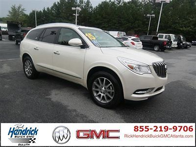 Buick : Enclave FWD 4dr Leather FWD 4dr Leather Low Miles SUV Automatic Gasoline 3.6L V6 Cyl White Diamond Trico