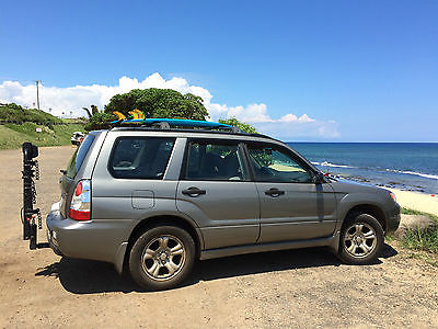 Subaru : Forester base SUV 2006 subaru forester with factory roof rack and tow package grey