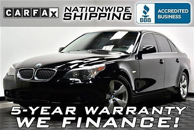 BMW : 5-Series 530i Loaded Black/Black Premium Nationwide Shipping 5 Year Warranty Leather Sunroof