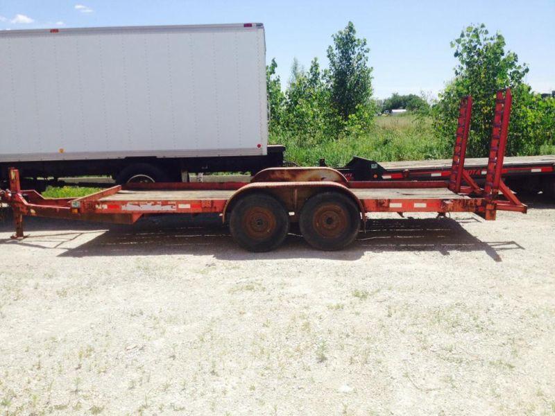 2002 Chronkite 12000lb bobcat trailer