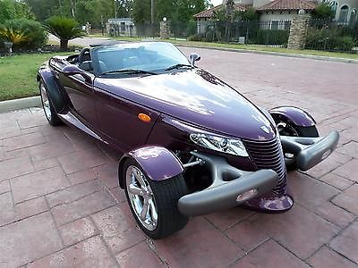 Plymouth : Prowler FREE SHIPPING! 3.5 l v 6 auto stick upgraded radio low miles 1 of 1 134 in purple pristine