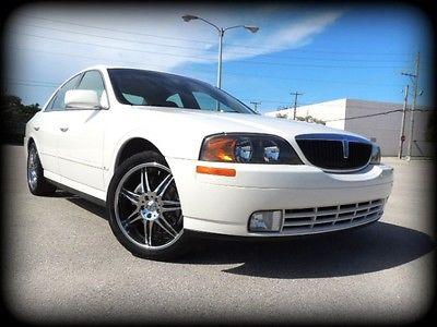 Lincoln : LS V8 FL, 1 OWNER, CARFAX CERT, WHITE/TAN, SPORT, COMPLETE SERVICE HISTORY - STUNNER!