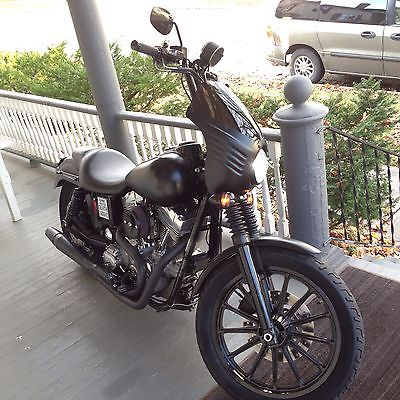 Harley-Davidson : Dyna HARLEY DAVIDSON DYNA Club Style Custom Harley Matte Black Motorcycle