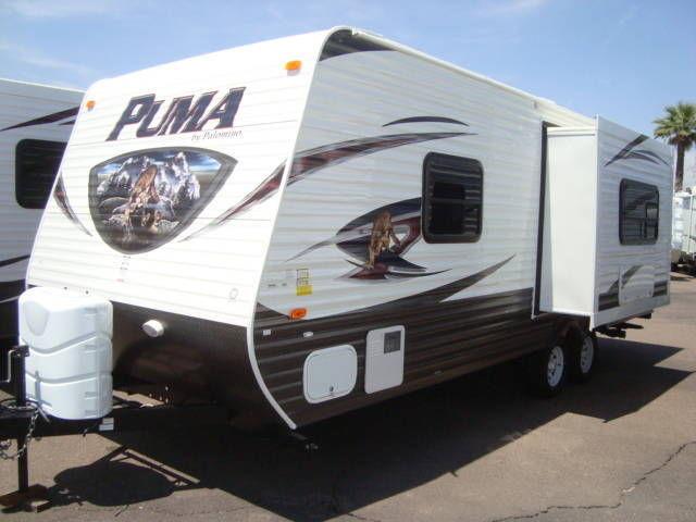 2014 Puma 22RB Light Weight travel trailer w/slide