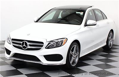 Mercedes-Benz : C-Class CERTIFIED C300 4matic AMG SPORT AWD Sedan NAVIGATI AWD CERTIFIED 2015 8k miles AMG SPORT full navi CAMERA panorama SIRIUS led lamps