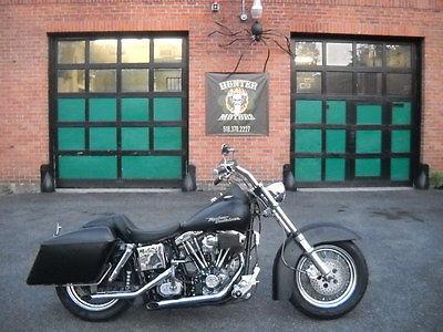 Harley-Davidson : Other 1981 harley davidson fxwg shovel head 1340 dressed like a street glide matblack