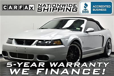 Ford : Mustang SVT Cobra 33 k miles supercharged nationwide shipping 5 year warranty leather convertible