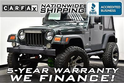 Jeep : Wrangler Sport Lifted Loaded Lifted Sport Must See Nationwide Shipping 5 Year Warranty 4x4 6 Cylinder