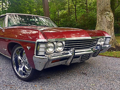 Chevrolet : Impala Real SS Convertible 1967 chevy impala ss convertible 327 300 hp real ss power steering runs great, 2