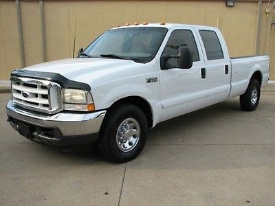 Ford : F-250 7.3 DIESEL 2002 ford f 250 super duty crew cab long bed xlt solid texas truck